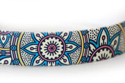 Waterproof Dog Collar - Henna Design - 1 Inch - Closeup