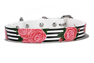 Striped Rose Waterproof Collar