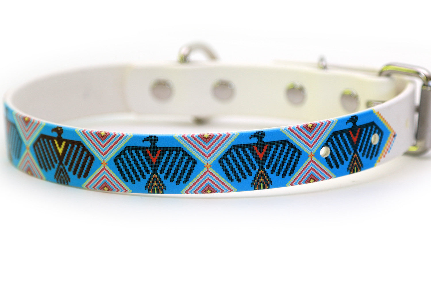 Waterproof Dog Collar - Native American Warbird Design
