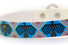 Waterproof Dog Collar - Native American Warbird Design closeup