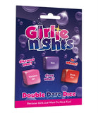 Girlie Nights Double Dare Dice - My Sex Toy Hub