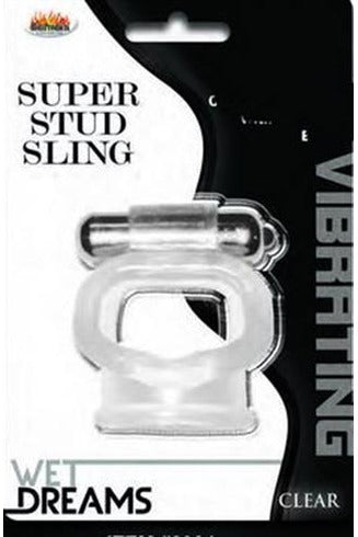 Wet Dreams Super Stud Sling - Clear - My Sex Toy Hub