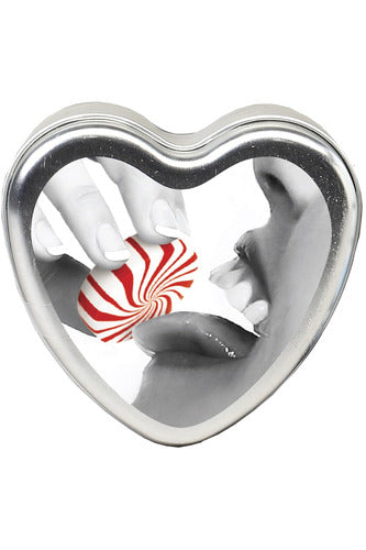 Edible Heart Candle - Mint - 4 Oz. | Earthly Body | My Sex Toy Hub