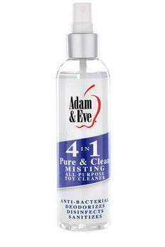 Adam and Eve 4 in 1 Pure and Clean Misting Toy   Cleaner 2 Oz | My Sex Toy Hub