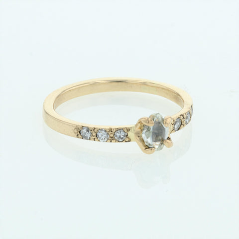 Natural-cut Diamond Ring