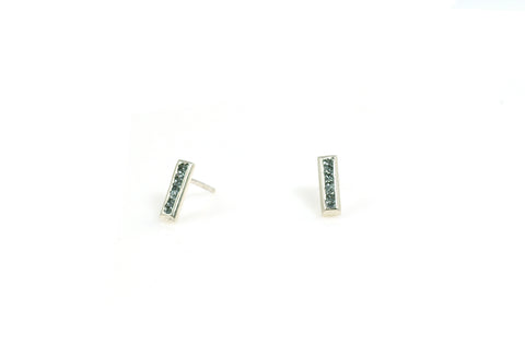 Textured Rectangle Studs
