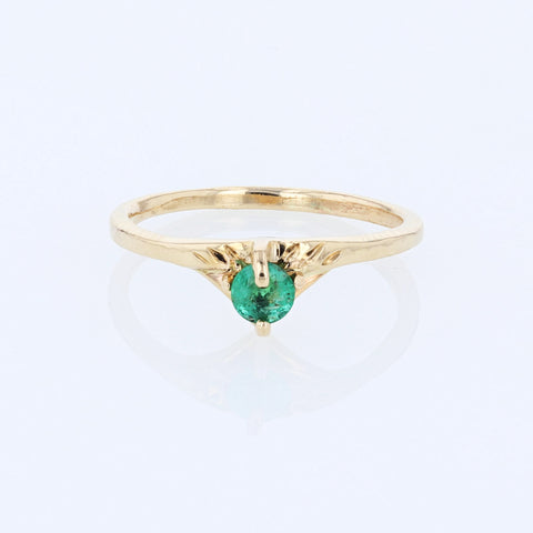 Emerald Crown Ring