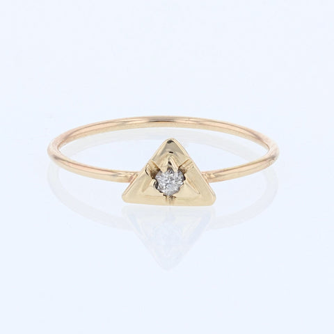 Triangles with diamond ring.