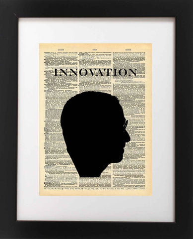 Steve Jobs Art - Innovation Silhouette - Vintage Dictionary Print