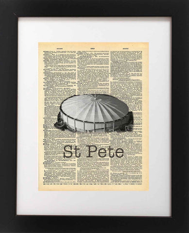 St Petersburg Florida Tropicana Field Vintage Dictionary Art Print