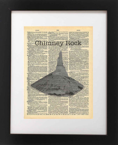 Chimney Rock National Park Nebraska State Vintage Dictionary Print