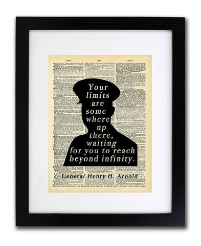 General Henry H Arnold - Limits Quote - Vintage Dictionary Print