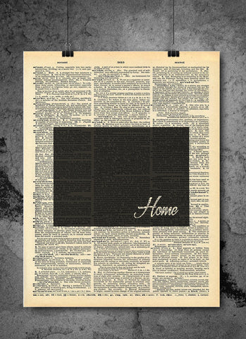 Colorado State Art Print | Home - Local Vintage Dictionary Wall Art Print - Authentic Artwork Prints