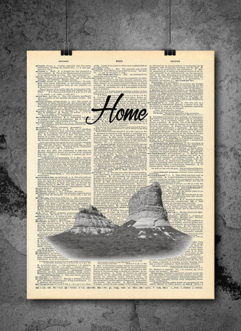 Court House Rock National Park Nebraska State Vintage Dictionary Print