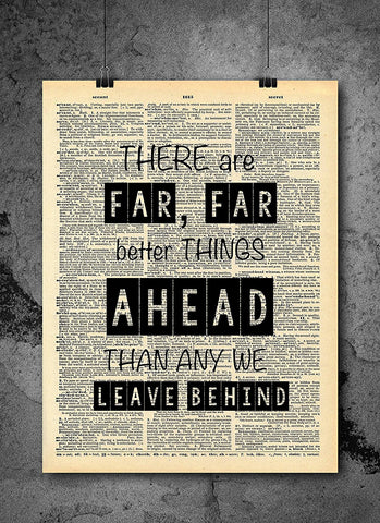 Better Things Ahead Quote -  Home Decor Inspirational Quotes - Vintage Dictionary Art Prints For Wall