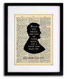 Abraham Lincoln Quote When You Reach The End Vintage Dictionary Print