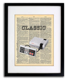 Nintendo NES Classic Old School Game Vintage Dictionary Art - Vintage Dictionary Art Prints For Your Wall