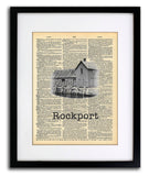 Rockport Motif Number  1- Art Vintage Dictionary Wall Art Print - State Wall Art