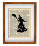 Wizard of Oz Witch Art - Heart Loved By Others Quote - Art Vintage Dictionary Wall Art Print - Wizard of Oz Wall Art