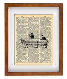 Billiards Old Pool table - Art Vintage Dictionary Wall Art Print - Billiards Wall Art