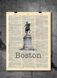 Boston Paul Revere - Art Vintage Dictionary Wall Art Print - Boston Massachusetts Wall Art