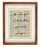 Be Who You Needed Younger -  Home Decor Inspirational Quotes - Vintage Dictionary Art Prints For Wall