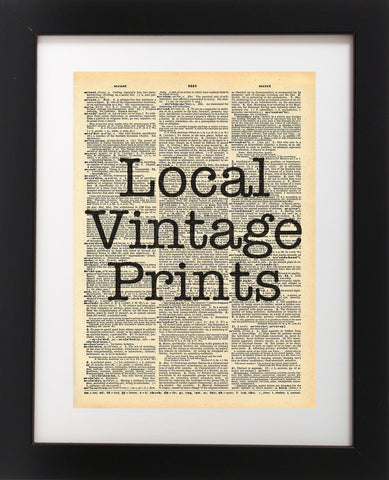 Custom Vintage Dictionary Print - Just Email Us Your Design or Quote