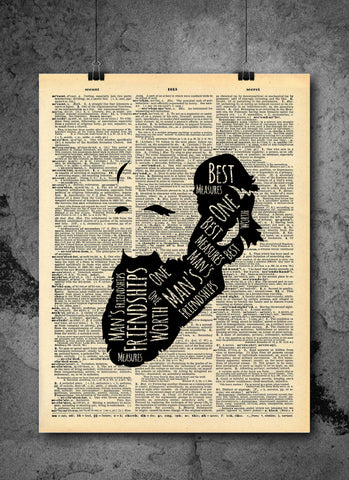 Charles Darwin Friendships Quote Vintage Art - Authentic Upcycled Dictionary Art Print