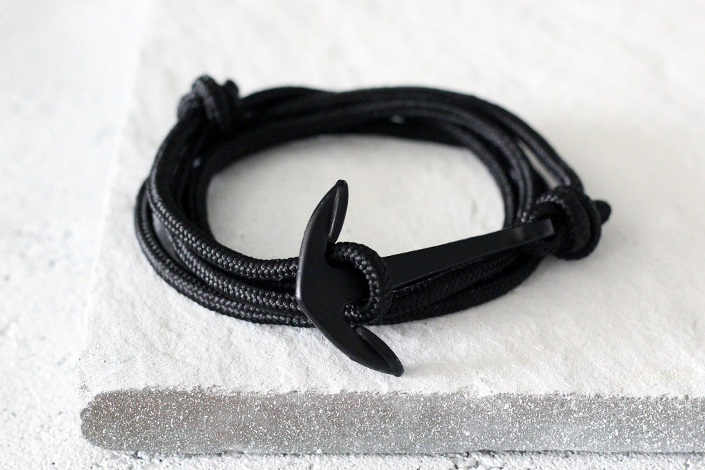 KOTBA Black Lace-up & Black Anchor Bracelet [LIMITED TIME OFFER]
