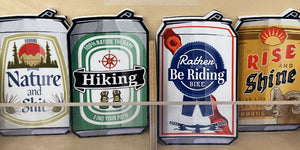 beer can sticker collection