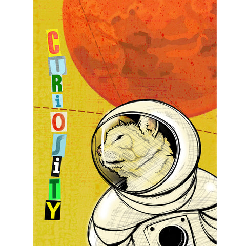 space cat curiosity astronaut cat Space Space Suit Space Mars planet