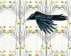 Crow in the Aspens Art Print, Paper Prints - Two Little Fruits