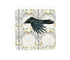 Crow and Fall Aspen Trees Cork Coaster, Coasters - Two Little Fruits