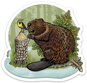 Beaver Sticker-Sticker-Two Little Fruits