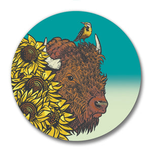 Bison Magnetic Bottle Opener-Soft Matte Bottle Openers-Two Little Fruits