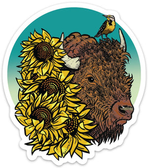 Bison Sticker-Sticker-Two Little Fruits