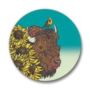 Bison Button Pin-Button Pins-Two Little Fruits
