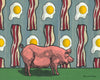 Bacon and Eggs Pig Art Print