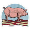 Pig and Bacon Sticker-Sticker-Two Little Fruits