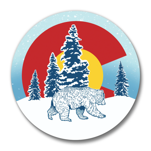 Colorado State Flag Bear Magnetic Bottle Opener