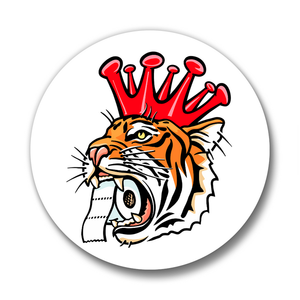 Corona King Tiger Button Pin