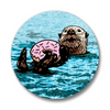 Doughnut Sea Otter Button Pin