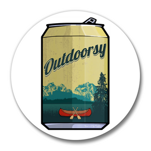 Outdoorsy Beer Can Magnetic Bottle Opener-Soft Matte Bottle Openers-Two Little Fruits