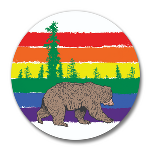 Rainbow Bear Magnetic Bottle Opener-Soft Matte Bottle Openers-Two Little Fruits