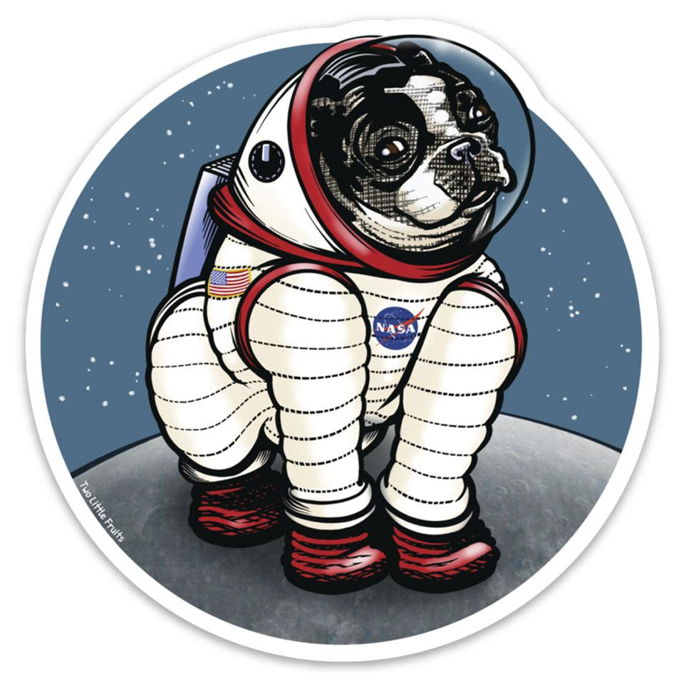 Rover The Space Dog Die Cut Sticker, Sticker - Two Little Fruits