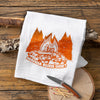 Vintage Lantern and Campfire Tea Towel Set