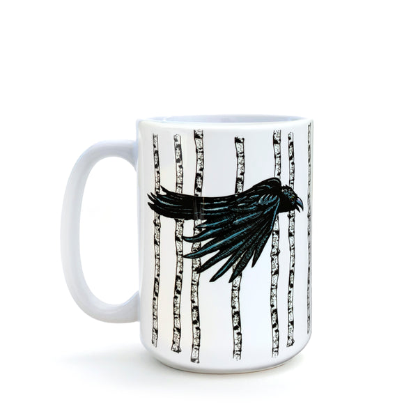 Aspen Gothic Black Crow 15 Oz. Coffee Mug, Mug - Two Little Fruits