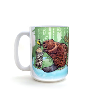 Beaver 15 Oz. Coffee Mug-Mug-Two Little Fruits