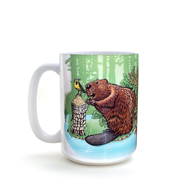 Beaver 15 Oz. Coffee Mug, Mug - Two Little Fruits