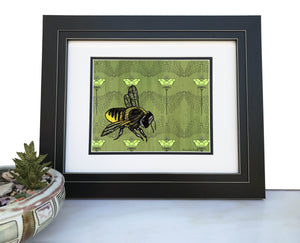 Bee Art Print-Paper Prints-Two Little Fruits